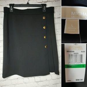 Michael Kors black skirt size L